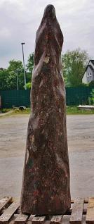 Steinfigur Stele aus Naturstein, poliert, 149 cm hoch