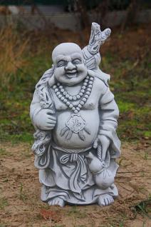 Steinfigur Lachender Buddha, Figur aus Steinguss