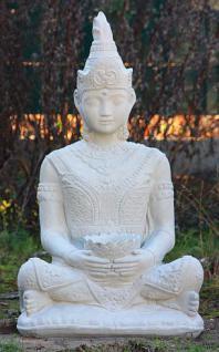 Steinfigur Buddha, 80 cm hoch, Figur aus Steinguss