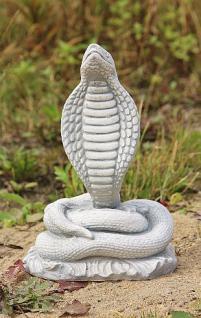 Steinfigur Kobra, Tierfigur aus Steinguss