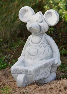steinfiguren maus mit schubkarre tierfigur aus steinguss m use kaufen bei steinfiguren horn. Black Bedroom Furniture Sets. Home Design Ideas