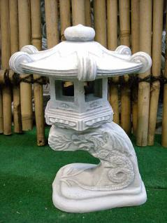 Steinfigur Yukimi Drachenlaterne, Laterne aus Steinguss