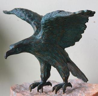 Bronzefigur Adler, Tierfigur aus Bronze