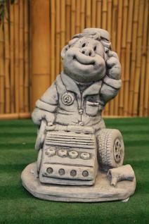 Steinfiguren KFZ Mechaniker, Figur aus Steinguss