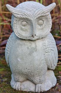 Steinfigur Uhu, Eule, Kauz, Tierfigur aus Steinguss, zur Gartendekoration