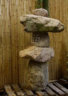 Steinfigur Flintstone Laterne, Naturstein, 105 cm hoch!