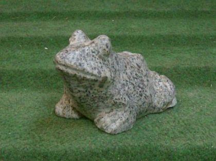 Steinfigur Frosch, Figur aus Granit Frösche Kröte