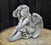 Steinfiguren Engel, Cherub, Cherubim, Skulptur aus Steinguss