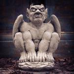 Steinfigur Teufel, Figur aus Steinguss