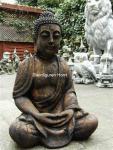 Steinfigur Buddha aus Steinguss Antik gearbeitet FROSTFEST