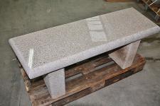 Gartenbank, Gartenmöbel aus Granit