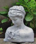 Steinfigur Büste Iris, Frauenbüste aus Steinguss