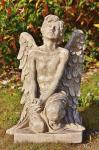 Steinfigur Engel Barbiel aus Steinguss frostfest für Grabstätte