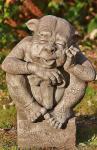 Schwert Gargoyle, Torwächter Garret, Figur aus Steinguss, Devonshire, DSL, Gargoyle