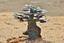 Bronzefigur Bonsai Baum, Figur aus Bronze
