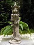 Steinfigur Stechapfel Junge, Figur aus Steinguss