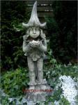 Steinfigur Lichtertroll, Figur aus Steinguss