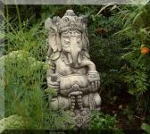 Steinfigur Ganesha, Skulptur aus Steinguss