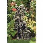 Steinfigur Waldbewohner groß 75 cm Steinguss Antik patiniert