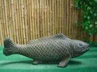 Steinfigur Fisch, Figur aus Steinguss