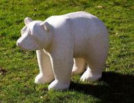 Steinfiguren Großer, stehender Eisbär, Tierfigur aus Steinguss Bär Bären