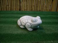 Steinfigur Frosch, Tierfigur aus Steinguss, Steinguss