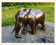 Bronzefigur Elefant, Figur aus Bronze, zur Dekoration, oder auch als edeles Geschenk Rüsseltier Dickhäuter