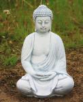 Steinfigur Buddha Lotussitz aus Steinguss