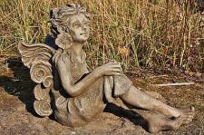 Steinfigur Blumenfee Fleur, Märchenfigur, Fantasyfigur
