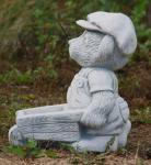 Steinfiguren Bär mit Schubkarre, aus Steinguss Bären Teddybär
