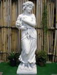 Steinfigur Vier Jahreszeiten (Winter) , Skulptur aus Steinguss