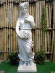 Steinfigur Vier Jahreszeiten (Frühling), Skulptur aus Steinguss
