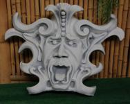 Steinfigur Gargoyle Maske, für die Wand