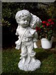 """Steinfigur Skulptur """"Geschwister"""" aus Steinguss"""