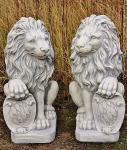 Steinfiguren Löwenset, Tierfiguren aus Steinguss Löwen