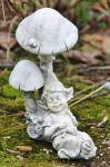 Figur Wichtel unterm Pilz, Fantasyfigur, Troll, Elfe