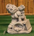 Steinfiguren Klempner, Figur aus Steinguss