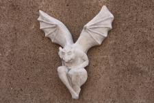 Steinfigur Gargoyle für Garten & Terrasse, Gartendeko