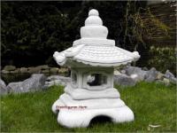 Steinfigur Tempel Laterne, aus Steinguss