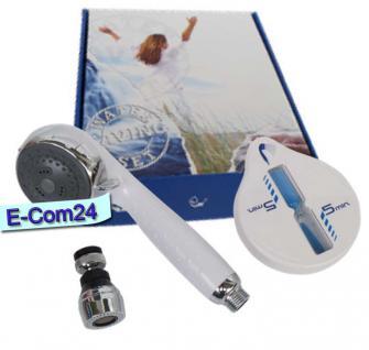 3 teiliges Wassersparset,wassersparende Duschbrause/ Duschkopf, wassersparender Wasserhahnaufsatz, praktische Duschuhr mit Saugnapf - Vorschau