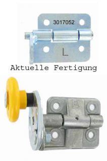 Hörmann Scharnierrollenhalter 3017052 LPU links (von innen gesehen) aus Stahl - ohne Exzenter, ohne Laufrolle