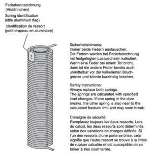 Torsionsfeder, ersetzt Hörmannfeder R705 und R25 - Vorschau 2