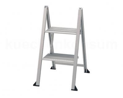 VIKINGSTEP 2 stufig Mini 660 mm Leiter Aluminiumleiter Trittleiter Küchenleiter