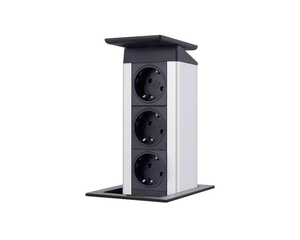 evoline port push versenkbare steckdose powerport tischsteckdose energietower 3 kaufen bei. Black Bedroom Furniture Sets. Home Design Ideas