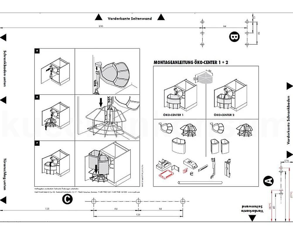 abfallcenter schwenkeimer 18l m lleimer einbau abfalleimer abfallsammler kaufen bei kuechenkonsum. Black Bedroom Furniture Sets. Home Design Ideas