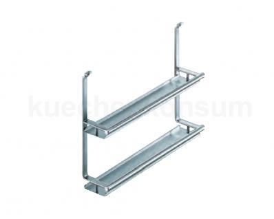 Linero 2000 Edelstahl Gewürzbord 2 fach Küchenreling Relingelement Nischenleiste