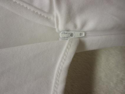 Innen-Schlafsack Baumwolle Größe 68 cm von Odenwälder BabyNest Farbe weiss - Vorschau 4
