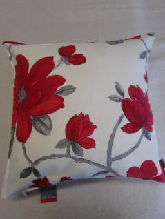 kissenbezug liv 50x50 cm f r sofakissen farbe ecru rot von proflax kaufen bei betten krebs. Black Bedroom Furniture Sets. Home Design Ideas