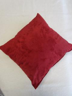 Kissen in Alcantara-Look 40x40 cm komplett mit Faserkugel-Füllung Farbe Rot - Vorschau 4