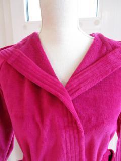 """Bademantel für Kinder """"Texie"""" von Vossen 100% Baumwolle Farbe 377 cranberry/pink Größe 116 - Vorschau 2"""